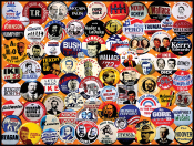 Campaign Buttons Jigsaw Puzzle