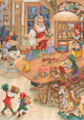 Santa's Toy Shop Advent Calendar