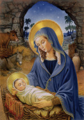 Mary with Child Christmas Card