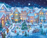 Holiday Village Square Jigsaw Puzzle