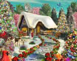Snowy Delight Jigsaw Puzzle