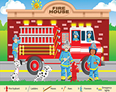 Fire Fighteres 24 Piece Floor Puzzle