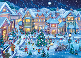 Holiday Village Square Christmas Card