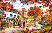 Village in Autumn Jigsaw Puzzle
