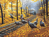 Turkey Tracks Jigsaw Puzzle
