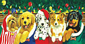 Stocking Puppies Jigsaw Puzzle