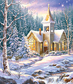 Winter Chapel Jigsaw Puzzle