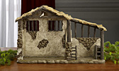Real Life Nativity Lighted Stable