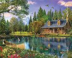 Mountain Cabin Jigsaw Puzzle
