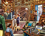 Cozy Book Shop Jigsaw Puzzle