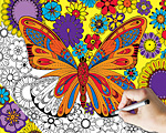 June Butterfly Coloring Puzzle