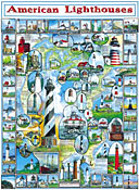 American Lighthouses Jigsaw Puzzle