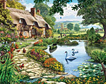 Lakeside Cottage Jigsaw Puzzle