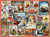 Vintage Flower Seeds Jigsaw Puzzle